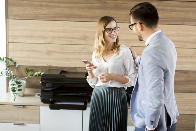 Business Peopke Talking Office - Copier Lease New York