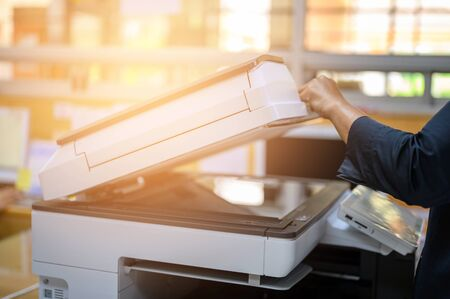 office staff photocopying